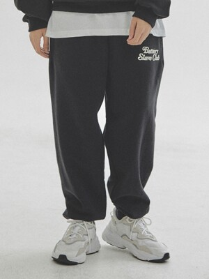 B.S.C. HEAVY SWEAT PANTS  BLACK