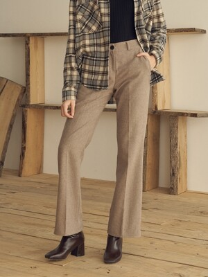 monts 1023 slit wool pants (beige)
