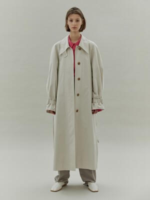 20SS ARMHOLE STITCH TRENCH COAT - BEIGE
