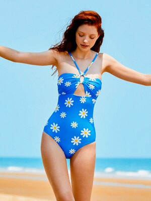 Moana One Piece - Blue / Daisy