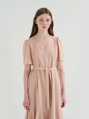 20' SUMMER_Salmon Cut-Out Dress