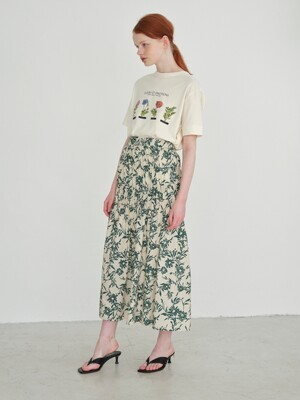 A1 SHIRRING FLORAL SKIRTS_IV