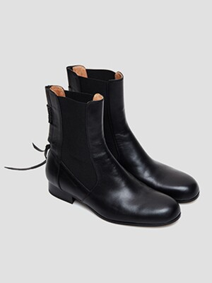 Chess Cut Chelsea Boots_Flat