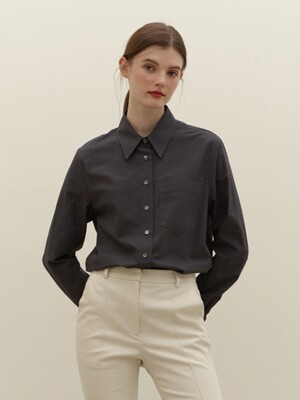 YEOUINARU One pocket basic shirt (Dark gray)