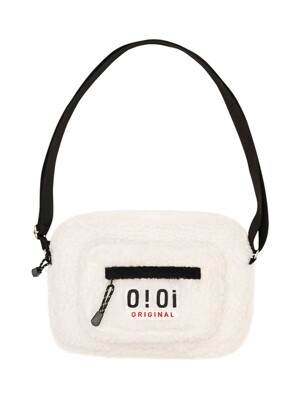 SHEARLING POCKET CROSS BAG [IVORY]