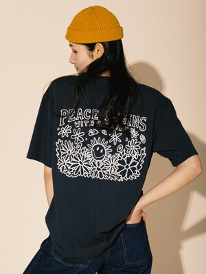 PEACE BEGINS TEE PART.2 (OCEAN BLACK)