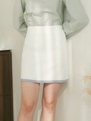 monts 1242 color block skirt (ivory)