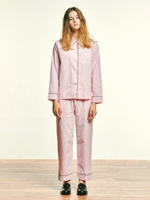 (W) Marilyn PJ Set Oxford Pink