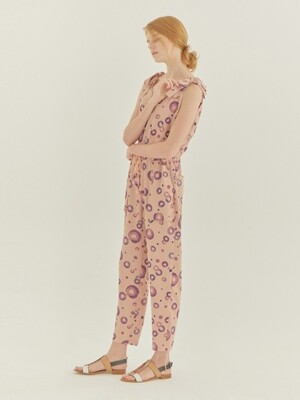 LP DOTS RIBBON JUMPSUIT (PINK)
