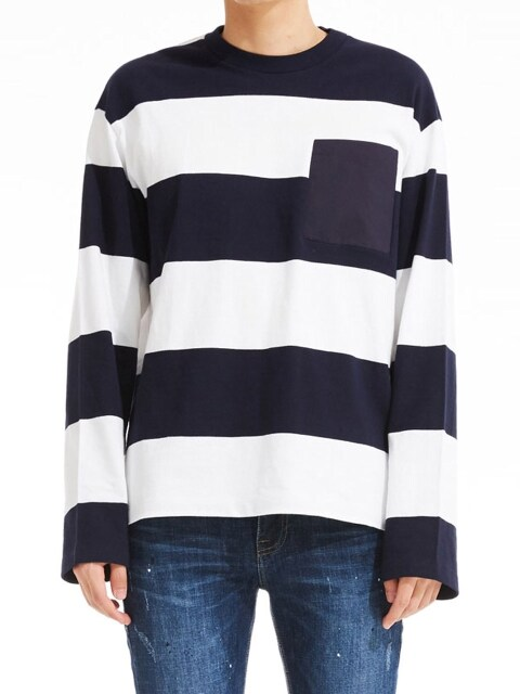 Stripe Pocket T-shirts_NV (PWOE3RLLB7M0B7)