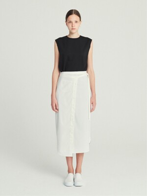 WRAPPED SKIRT (WHITE)