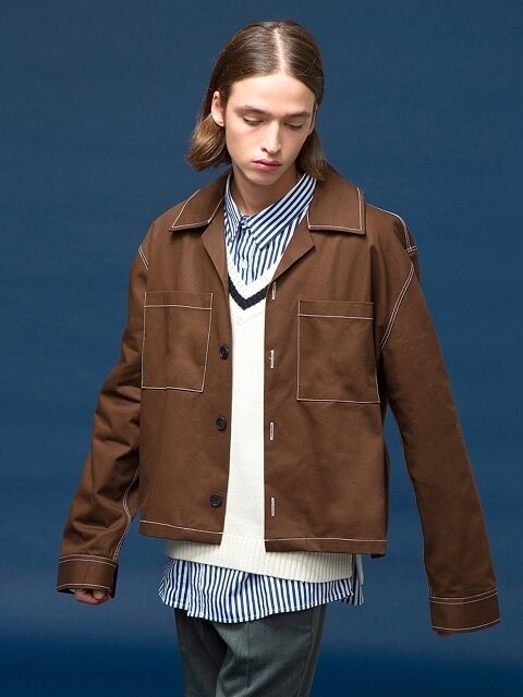 Stitch Over-Fit Jacket [brown]
