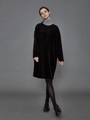 Corduroy Dress_ Black