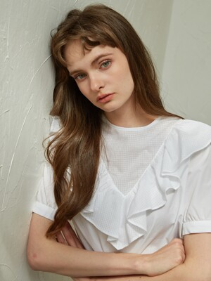 FRILLY BLOUSE_WHITE