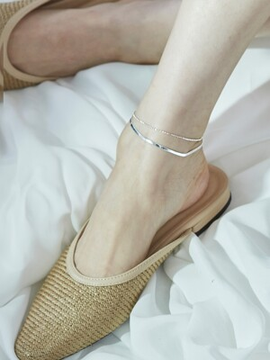 snake two chain anklet