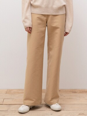 cotton modern pants (beige)