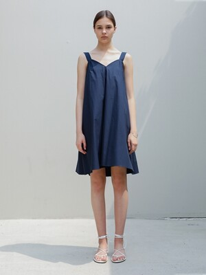 Pure Cotton Sundress/Navy