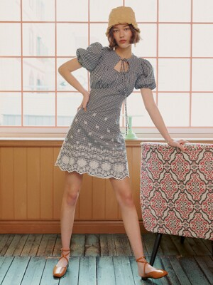 [EXCLUSIVE] PUNCHING LACE MINI DRESS_3colors