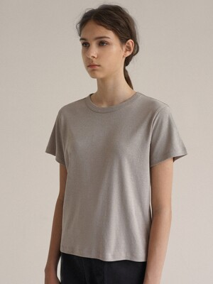 Vintage washing cotton t-shirt (Stone beige)
