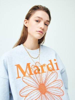 SWEATSHIRT THE FLOWER MARDI HEATHER-ORANGE