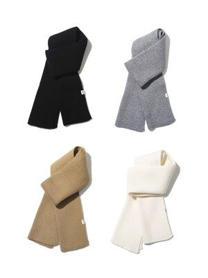 [1+1] CLASSIC KNIT MUFFLER [4 COLOR]