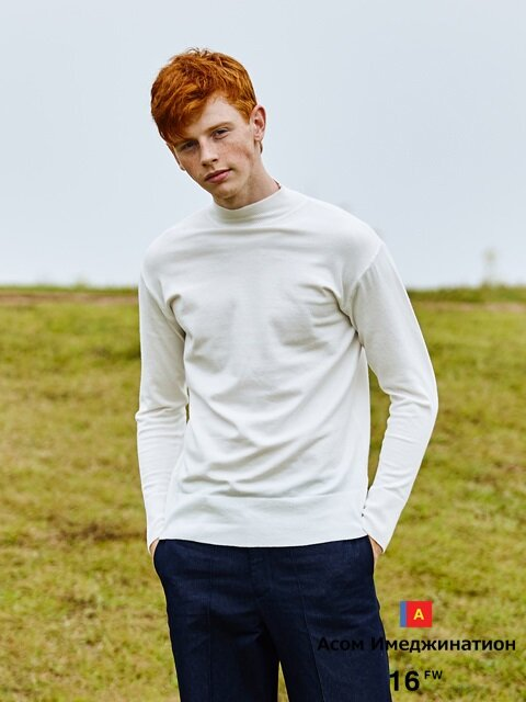 AWESOME STANDARD WOOL HALF TURTLE NECK White