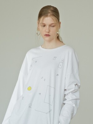 17FW A PITHY SEQUENCE T-SHIRT (WHITE)
