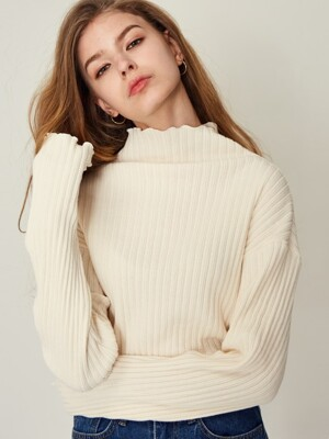 17W RB TURTLENECK(IVORY)