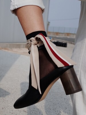 double ring ankle strap Black