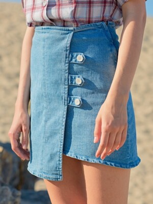 monts713 denim lap skirt