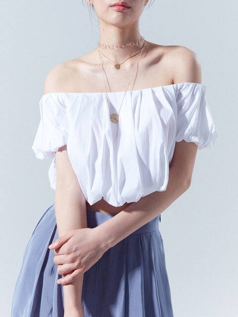 Off Shoulder Blouse_WHITE
