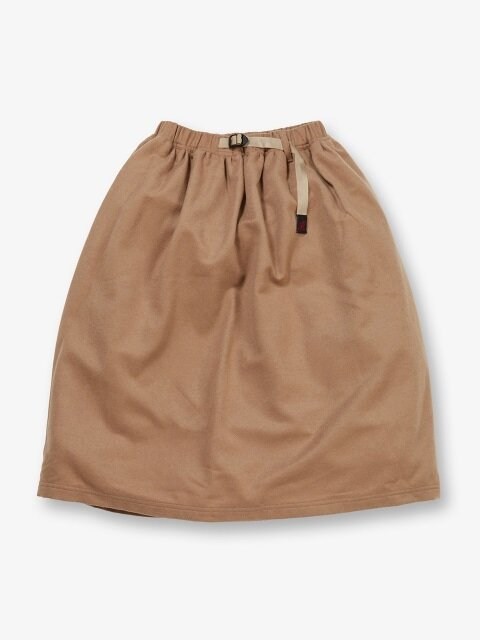 WMNS WOOL LONG FLARE SKIRT CHINO