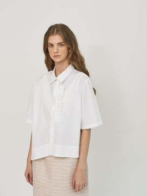 DETACHABLE PLEATED RUFFLE SHIRTS