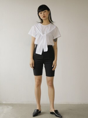 19SS BASIC HALF PANTS /BLACK