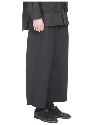 Wide Cropped Pants Black