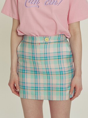 Jamie Check skirt_SS3606MT
