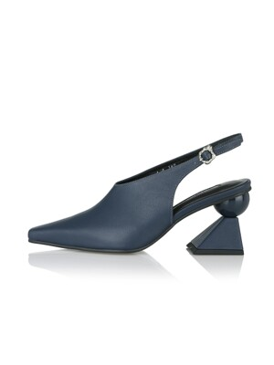 Selina sling-backs / 19PF-S404 Ash Navy