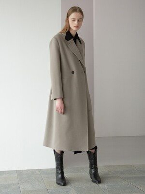 detachable collar long coat