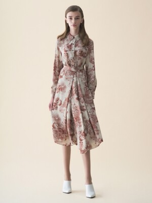 WRAP SHIRTS DRESS_WINE