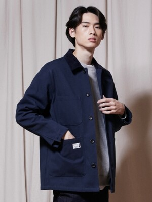 OL151_Basic Oxford Jacket_Navy