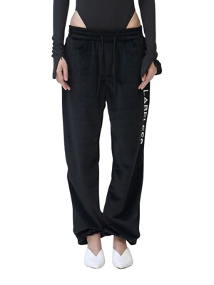 side logo silky lounge trousers