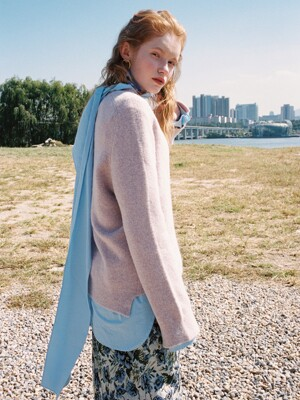 [FRONTROW x RePLAIN] Loose-fit Alpaca Sweater_2colors