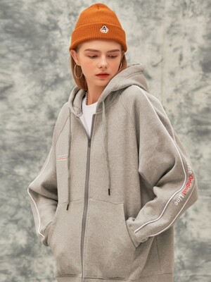 ORIGINAL LINE HOOD ZIP-UP (MELANGE)