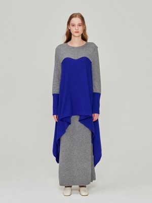 Wing Cashmere Dress_Grey