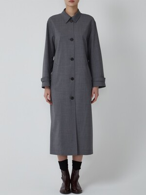 VIRGIN WOOL SINGLE MAXI COAT