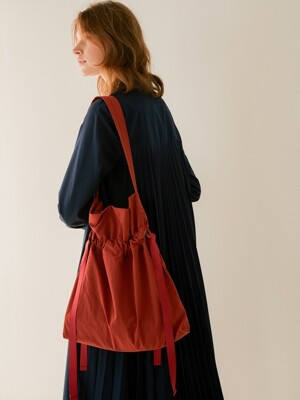 Drawstring Bag_Orange Rust