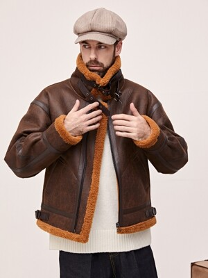 CRACK MUSTANG JACKET - BROWN