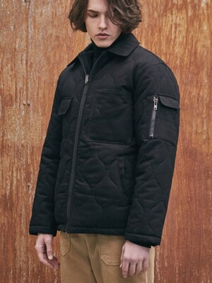 RICK BIO QUILTING JACKET (BLACK)