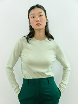 MINT SIGNATURE WOOL BASIC TOP