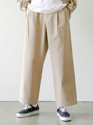 HOUSE KEEPER SET-UP 2T WIDE PANTS (PEANUT)